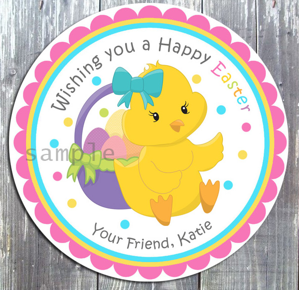 Easter basket treat favor gidt tag easter basket treat favor gift tag printed negle