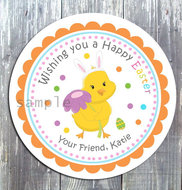 Easter Flower Treat Birthday Favor Gift Tag - Printed-Easter, Easter chick, party printable, treat tag, gift tag, favor, tags, digital invitation, birthday invitation, thank you tags, ek design gallary