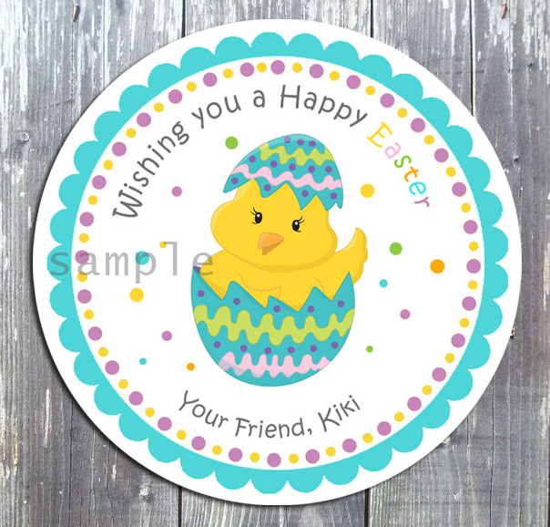 Easter Egg Treat Tag Birthday Party Favor Gift Tag - E-file