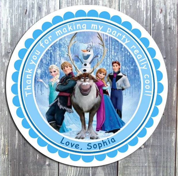 Disney Frozen Birthday Party Favor Favor Gift Tag - Printed
