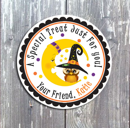 Halloween Tags and Stickers V